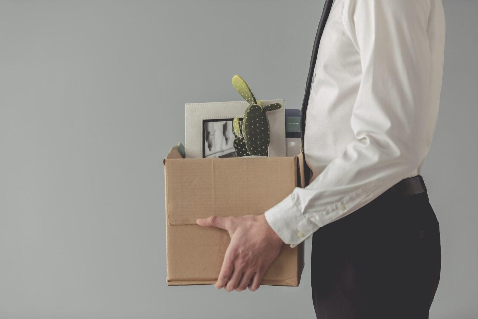 Belongings in a box