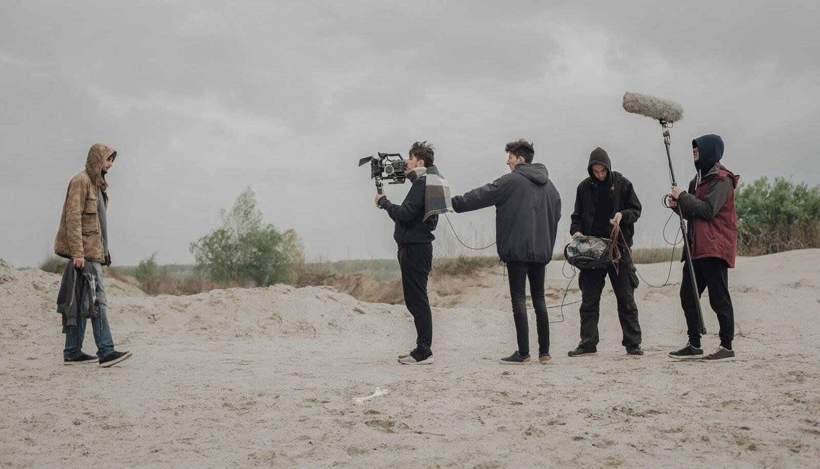 Camera Crew on Beach