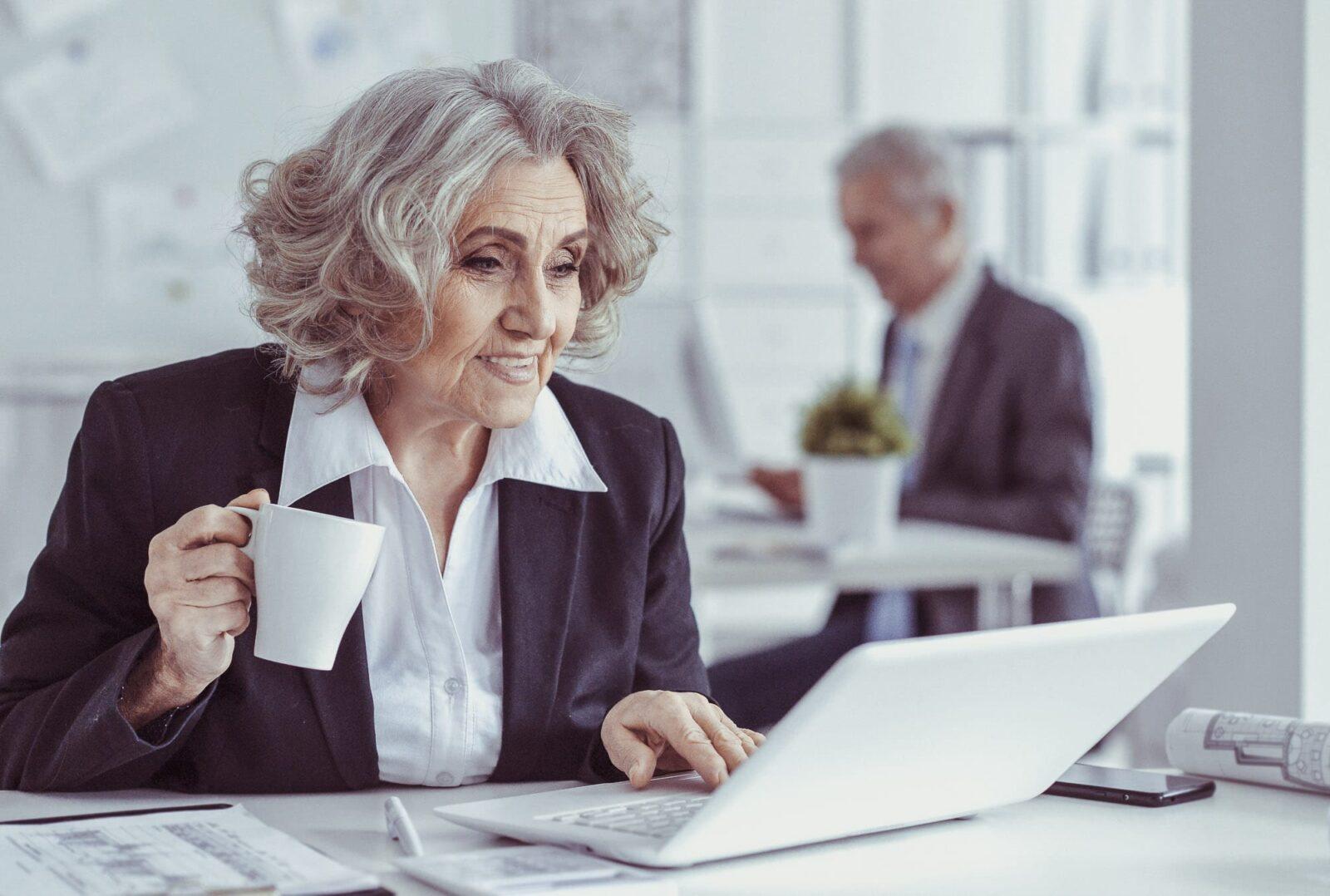 Older worker CV template