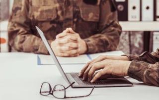 Transferable military skills man working